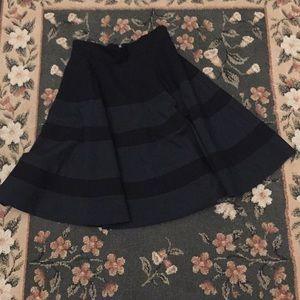 Amanda + Chelsea skirt black knee length 2